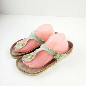 Birkenstock Womens Gizeh Licorice Brown Sandals